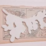 """""""Botanica"""" porselein en boekillustratie uit 1897, 18/25 cm, 2009"""