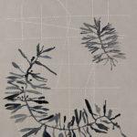 """""""Atkins"""", aquarel, doorprikt papier, 35/25 cm, 2015"""