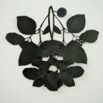 aquarel, gesneden papier, 50/65 cm, 2010